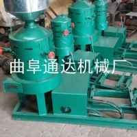 黑龙江 哪里卖电动小型石碾机 通达 热销中小型喷风碾米机 多功能挤扁机参数