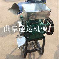 电动豆类压扁机 多用途对辊式颗粒压扁机 粮食挤扁机 通达零售
