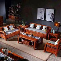 刺猬紫檀酒店红木新中式6件套沙发家具厂家 名琢世家