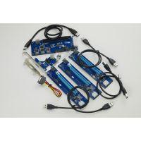 挖矿PCI-e转PCIe转接卡 PCIe 1X转16X扩展卡 一拖四 1转4PCIe延长
