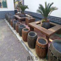 厂家供应休闲仿木桌椅组合凳,水泥仿木长廊葡萄架