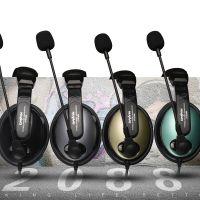 电音DT2088游戏电教话务耳机鹅颈管金属麦克风重低音厂家直销多色