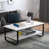 现代简约客厅茶几创意U型角钢木矮桌办公室洽谈接待茶桌厂家定制