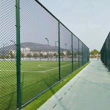 百瑞定制小区球场体育场护栏网 勾花包塑学校球场体育场围网 多用途隔离网