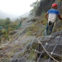 编织钢丝绳网 公路边坡防护网 柔性护山网