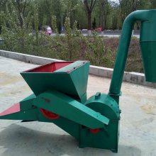 畜牧养殖专用沙克龙除尘粉碎机 530型自动进料打草机 锤式秸秆打粉机志成机械