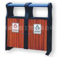 新疆垃圾桶/新疆分类果皮箱精致耐用/昌吉环卫户外垃圾箱塑木材质