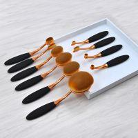 kainuoa/凯诺工厂批发10支牙刷型化妆刷 半金美妆工具
