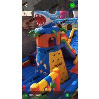 儿童游乐园里的打气城堡去哪买 充气城堡占地面积多少 彩色充气城堡
