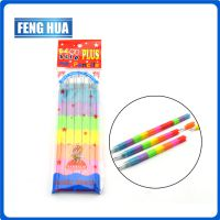 kjin七彩积木装拼铅笔 七彩积木铅笔入opp袋 可拆卸铅笔 可擦除铅笔