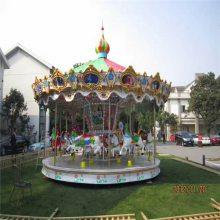 儿童乐园户外大型广场电动豪华转马成人升降旋转木马游乐场设备