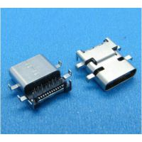 USB 3.1 24P连接器 Type-C沉板母座 六脚插板 带定位柱 手机移动电源