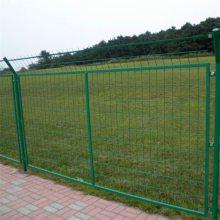圈山圈地防护网 焊接铁丝护栏网 绿色浸塑围墙网