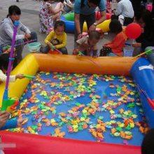 12平方户外摆小型充气沙滩池挣钱吗 河南幼儿园决明子充气沙池玩具