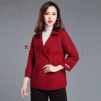 专柜正品三标齐全品牌折扣女装尾货高档双面羊绒大衣