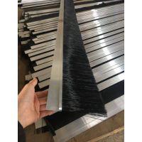 铝合金密封条刷 尼龙丝挡尘扶梯电梯毛刷 机械工业毛刷条
