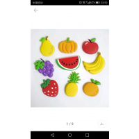 水果异形冰箱贴制造卡通软胶冰箱贴厂家
