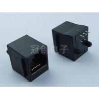 180度立式贴片RJ11电话母座/6P6C电话RJ11插座/6P6C水晶头RJ11插座