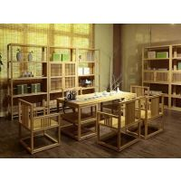 橡木茶室软装定制茶桌茶具一站式采购武汉许氏茶艺