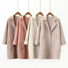 沙河厂家便宜批发风衣大衣清仓批发中长款毛呢外套宽松呢子大衣厂家直销