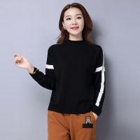2017年秋冬季新款女士针织打底衫 时尚潮流韩版修身短款百搭毛衣
