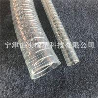 PU透明钢丝输送管|50mm食品级阻燃抗静电软管|镀锌钢丝加强管|食品厂酒厂专用输送管山实| PU钢