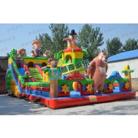 广场充气城堡蹦蹦床熊出没儿童充气滑梯游乐园充气玩具