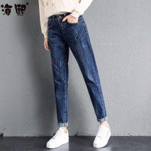 便宜夏季热卖女装的牛仔裤 长 特价尾货清货处理几元牛仔裤批发