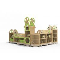 贝尔康 欧式新款 欢乐熊组合柜 幼儿区域柜 玩具柜 角色扮演柜