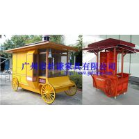 欧式步行街售卖车,广场移动手推车,韩式小吃售货亭