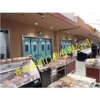 青岛泰明 钢制镀锌防撞门自由门 食品厂面包房面条间专用门厂家