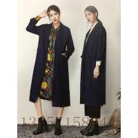 北京动物园服装批发市场品牌折扣女装代理连衣裙复古17春水墨生香