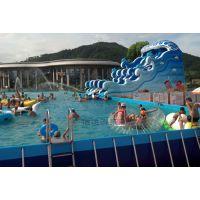 冲浪滑梯充气水滑梯 移动水上乐园设备 支架水池水滑梯