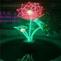 灯熠生产LED花朵立体造型灯玫瑰花造型灯灯光节艺术图案灯