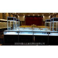 深圳各种展示柜出租|黑色珠宝展柜租赁木制精品展柜订做