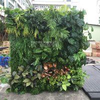 深圳绿琴厂家热销植物墙 仿真绿植墙 人造假绢花 酒店室内装修美化绿色植物 不褪色无异味背景装饰