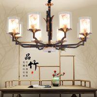 新中式玻璃吊灯客厅灯具仿古餐厅简约现代卧室大吊灯