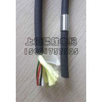 上海柔胜-PU聚氨酯滑动式测斜仪电缆带金属圆环4芯0.2/0.25/0.3粗糙雾面物探线生产厂家