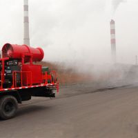 矿山开采爆破扬尘治理车载式雾炮机120米大型喷雾车 北华厂家直销