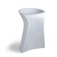 陶瓷一体连体式卫生间白色新款个性立柱洗手盆