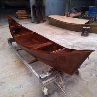 殿宝木船制造厂直销小木船 景观装饰用船 户外花船 实木渔船 尖头欧式船