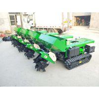 小型柴油耕地机图片 启航履带式拖拉机开沟机 果园施肥机价格
