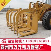 中型360旋转液压抓木器 夹木叉 转动灵活 载荷3.5吨