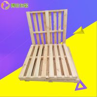 仓库周转叉车木托盘 青岛食品木托盘生产厂家 可定制