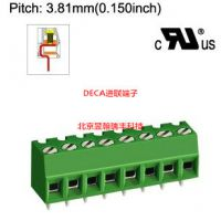 MB332-381原装进口台湾DECA进联间距3.81绿色PCB接线端子/连接器