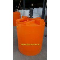 港诚2吨加药桶2000升食品级加药搅拌桶 水处理耐酸碱pe加药箱