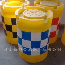 塑料防撞桶 注水柱 交通分流预防墩警示圆形隔离围挡道护栏 河南新力