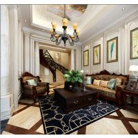 置地柏悦府550平美式风格别墅装修设计图半包38万