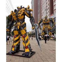 广西大型变形金刚军事展铁艺模型擎天柱大黄蜂出售租赁