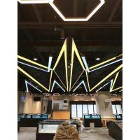 嘉兴铝材卡布双面吊顶灯箱尺寸形状均可定制